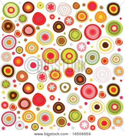 circles  colorful pattern