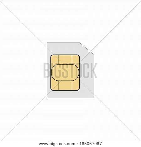 Sim card vector design isolated on white background