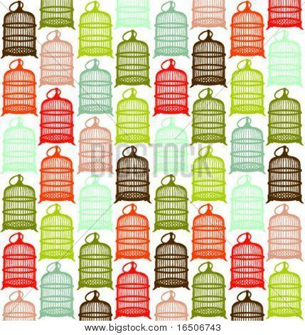 patrón de jaula de pájaro