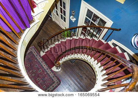 Spiral Staircase In Darrow Plantation