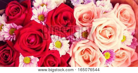 Beautiful Rose Pattern, Valentines Or Wedding Or Love Background.