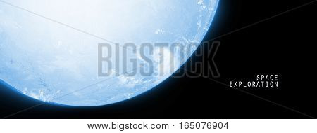 Celestial Art Single Planet in Deep Space Showing the Beauty of Space exploration. Planet Texture furnished by NASA 3d Render 3d Illustration