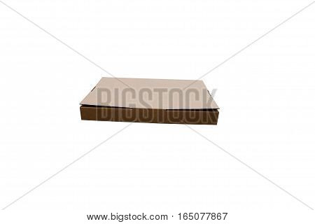 cardboard box isolated on a white background. pizza box.