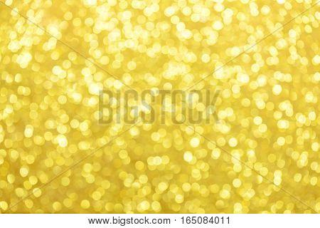 Golden glitter bokeh abstract background. Bokeh background.