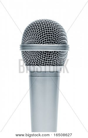 Beautiful new microphone on a white background
