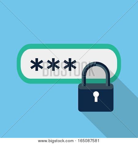 Password protected icon, design element for mobile and web applications, eps 10