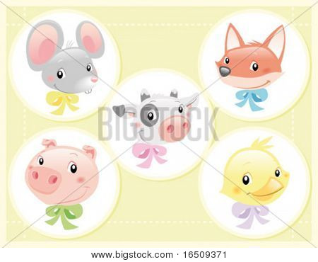 Vector Illustration - Set of Baby  Characters