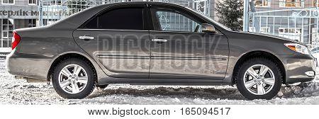 Kazakhstan, Ust-Kamenogorsk, 9 january, 2017: Toyota Camry XV30