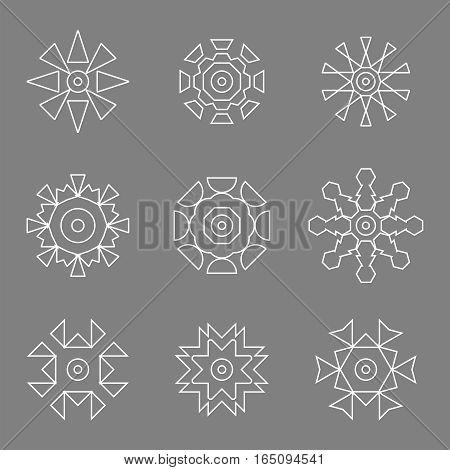 abstract white design line icon logos set,vector Illustration EPS10