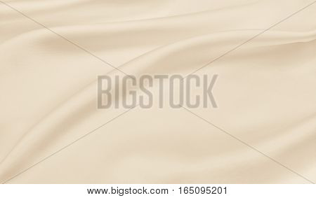 Smooth Elegant Golden Silk Or Satin Luxury Cloth Texture As Wedding Background. Luxurious Christmas