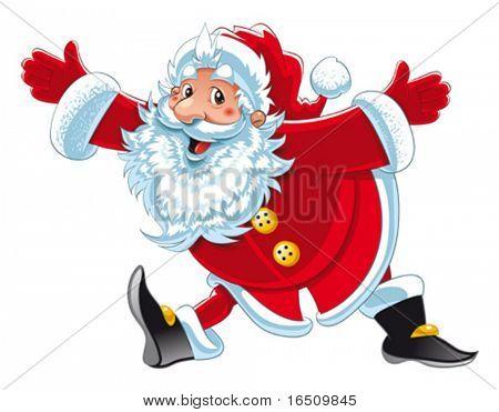 Santa Claus. funny Cartoon und isoliert Vektor Zeichen