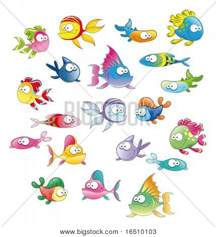 Family of fish. 