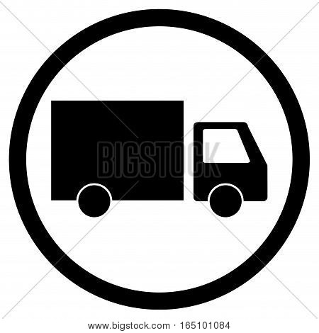 Lorry delivery icon. Truck transportation cargo transport icon vector illustration