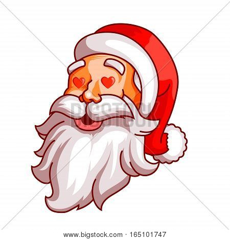 Santa claus emotions. Part of christmas set. Love, passion, amorousness. Ready for print EPS10