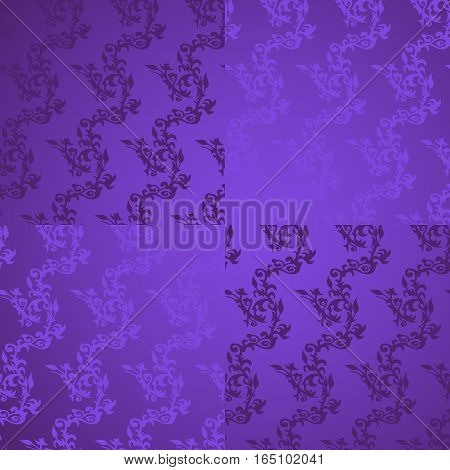 Traditional festive background for Mardi Gras carnival. Vector illustration, luxury beautiful background with hand drawn pattern for poster, party invitation, banner, flyer to other design.