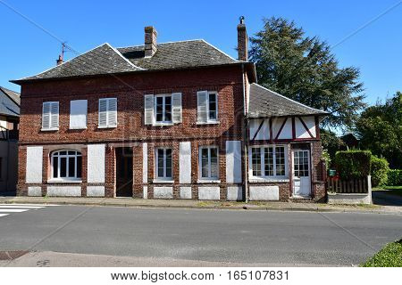 Vascoeuil France - october 4 2016 : the village in autumn