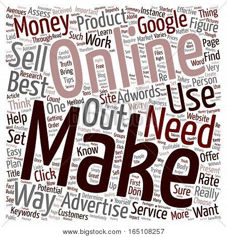 Best Way to Make Money Online What It Takes text background wordcloud concept
