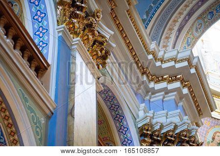 The interior of the Catholic Church monastery