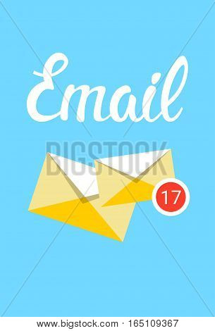 Envelope Email Inbox Message Send Business Mail Flat Vector Illustration