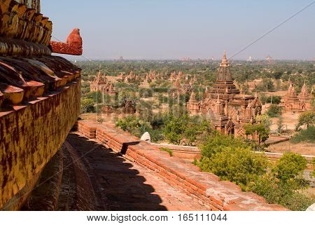 Dhammayazika temple at the archaeological site of Bagan on Myanmar