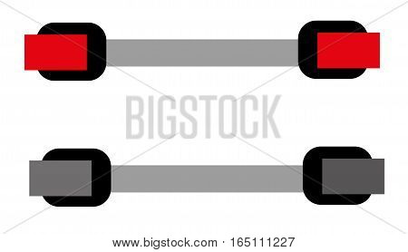 Computer cable on white background. Flat icon vector isolated illustration