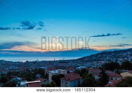 Sunset On The City Of Trieste