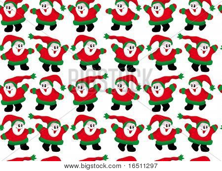 Raster Seamless wallpaper Little Santa Claus (Vector  version 17313088)