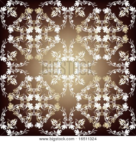Vector Seamless Flower vintage wallpaper (Raster version 18833035)