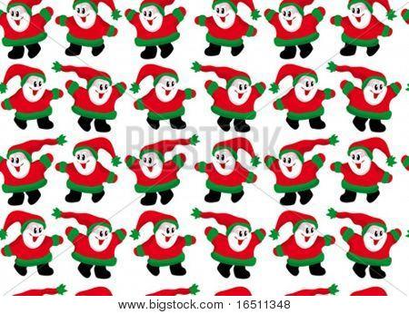 Vector Seamless wallpaper Little Santa Claus (Raster version 16953823)