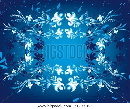 Vector  Flower vintage wallpaper (Raster version 18268696)