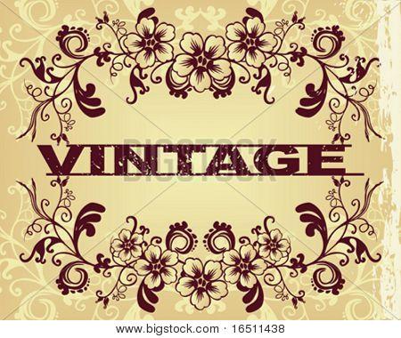 Vector Flower vintage wallpaper (Raster version  18644770)