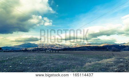 Cloudy Sky On Italian Mountains