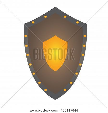 Isolated shield on a white background, Vector illustration