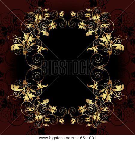 Vector Flower vintage wallpaper (Raster version 25524553)