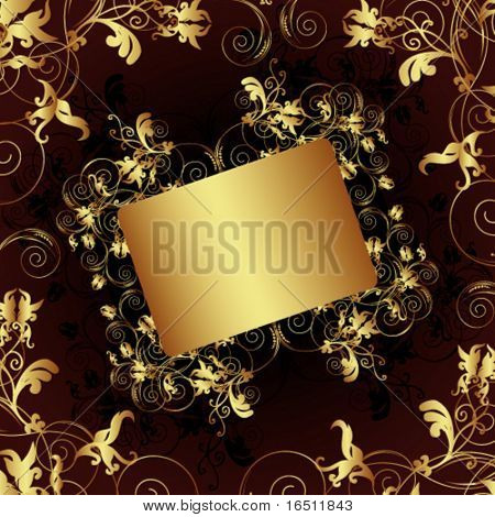 Vector Flower vintage wallpaper (Raster version 25524541)