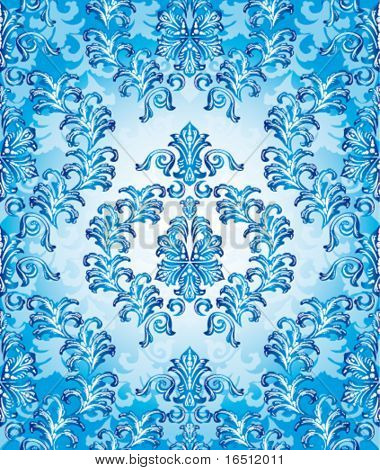 Vector version. Seamless Christmas and the festive background. The elegant patterns on a blue background.