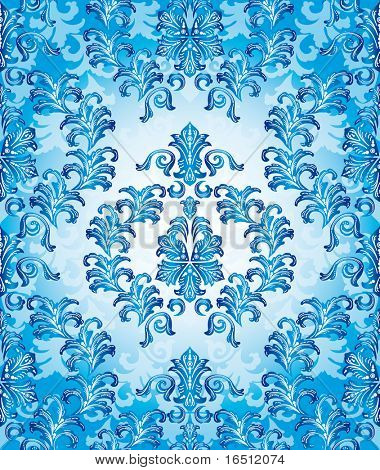 Raster version. Seamless Christmas and the festive background. The elegant patterns on a blue background.