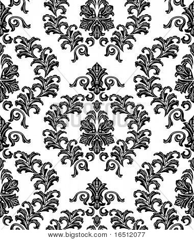 Raster version. Seamless Christmas and the festive background. The elegant patterns on a white background.