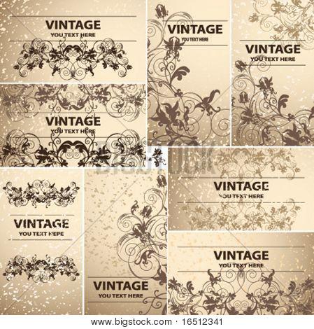 Vector Vintage cards