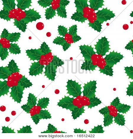 Vector seamless  Background Christmas poinsettia