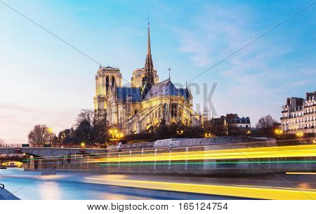 The Notre Dame is historic Catholic cathedral one of the most visited monuments in Paris considered as one of the finest examples of French Gothic architecture.