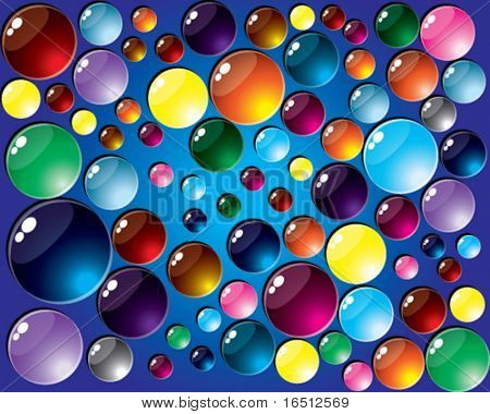 Vector  Color buttons background