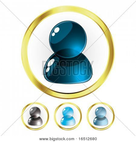 Vector  Set of Glass People Blue (Raster version 25482736)