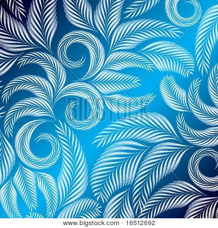Vector Vintage floral azul base