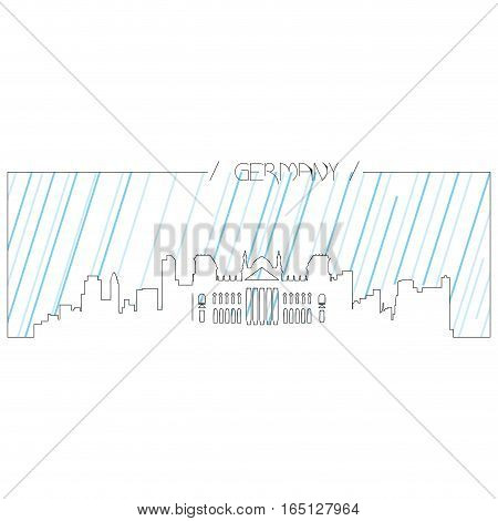 Isolated abstract skyline of Berlin, Vector illustration