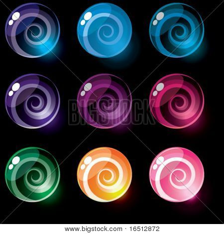 Vector  Set of shiny candy