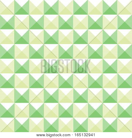 graphic design editable for your design, hand drawn lovely modern geometrical green square patterns. Vector Illustration.