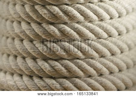 Rope texture pattern background. cord. Clouse up