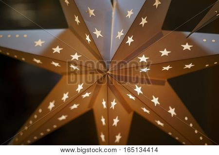 decorative stars made of paper. Clouse up