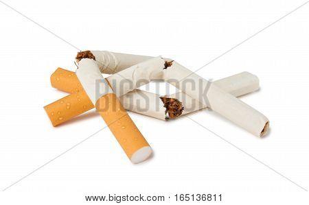 Broken Cigarettes As Symbol Of Refusal From Smoking